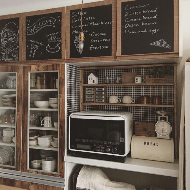 オープン棚の食器ディスプレイアイデア3