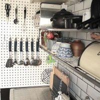 有孔ボードでDIY!賃貸OKのおすすめキッチン収納アイデア