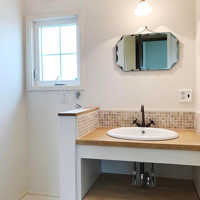 洗面所③洗面所の壁