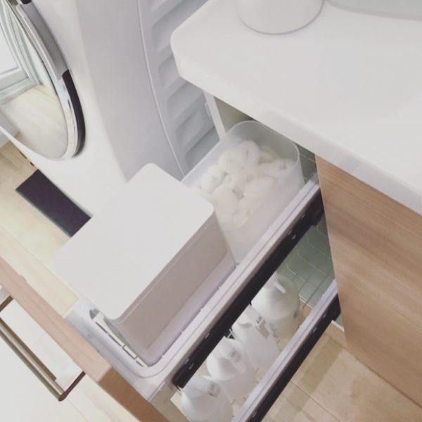 簡単な100均グッズ洗面所下収納アイデア3