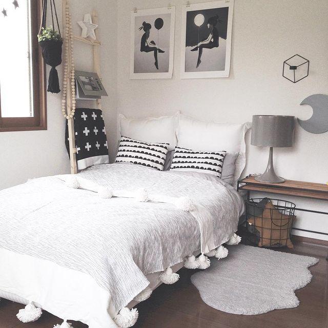 一人暮らしの寝室インテリア6