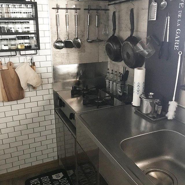 有孔ボード キッチン収納9