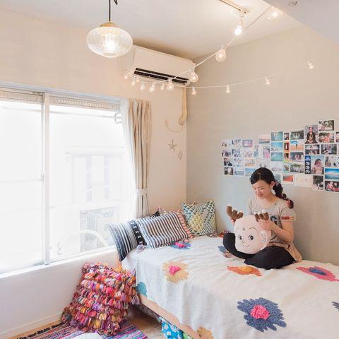 一人暮らしの寝室インテリア3