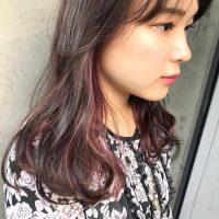 紫のインナーカラーでさりげなくお洒落に♪人気色を自分らしく取り入れよう