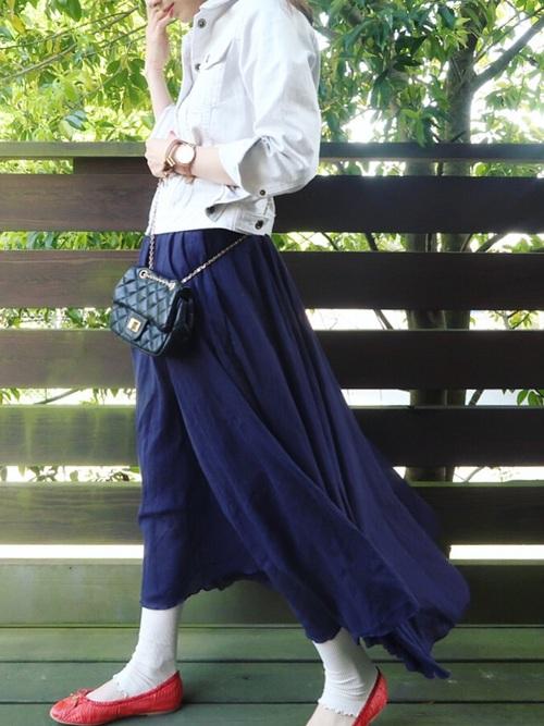 [Tabio/靴下屋] 靴下屋/ 2×2リブ 裾メロウレギンス 12分丈2