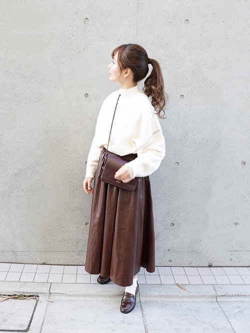 [JUNOAH] PUレザースカート