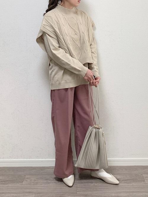 プリーツ風のおしゃれなトレンドバッグ