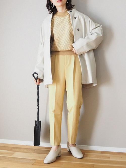 [Auntie Rosa] 【VACANCY】エコレザーノーカラージャケット