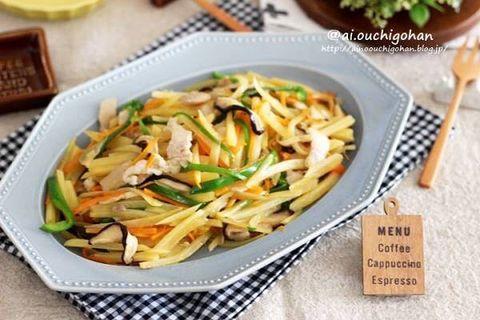 簡単!豚肉と野菜のバター風味な炒め物