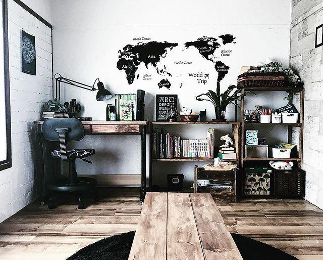 インダストリアル風の子供部屋