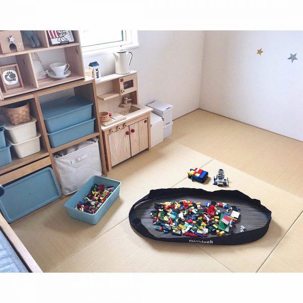 ボックスとブロックプールでパズル収納
