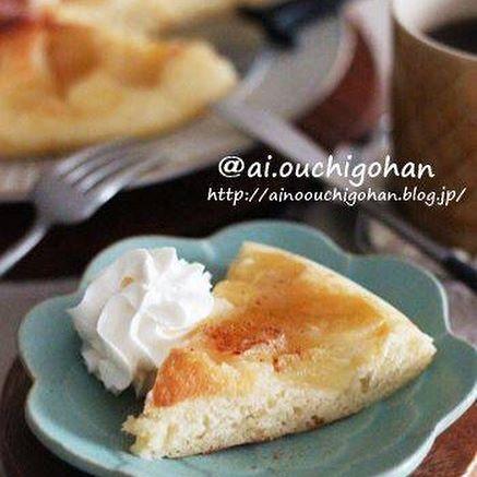 フライパンでできる!簡単りんごケーキ
