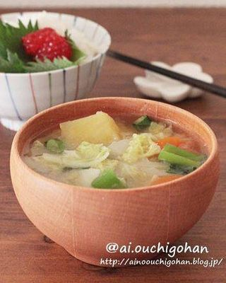 体が温まるレシピ!レンコンのとろみ味噌汁