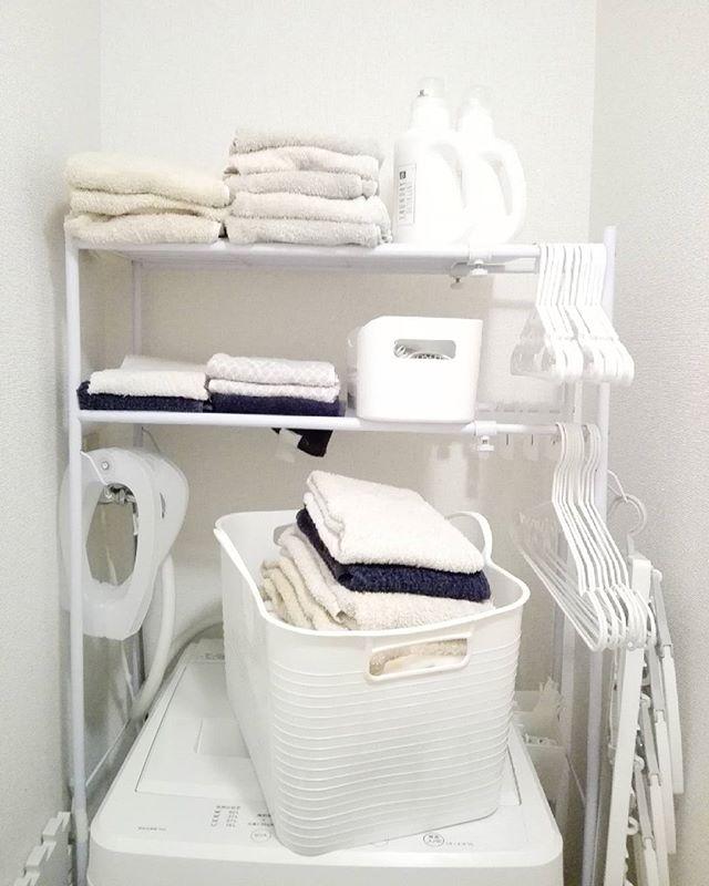洗濯機周辺に引っ掛けて収納