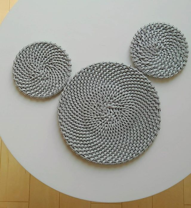 コイリング編みのコースター