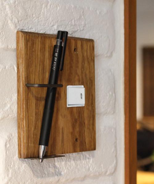 [a.depeche] wood pen holder switch plate 1口 / スウィッチプレート