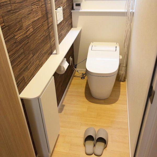 アースカラーで金運アップしたトイレ