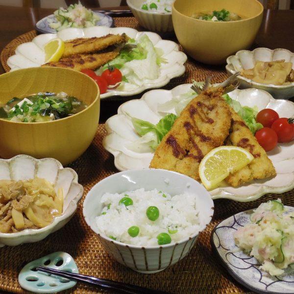 豆ご飯の献立におすすめで人気の鰯のフライ
