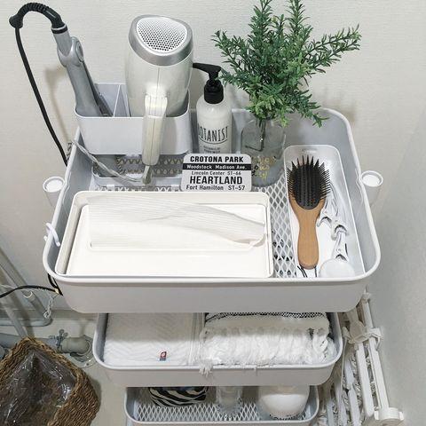 洗面所収納に便利なワゴン収納