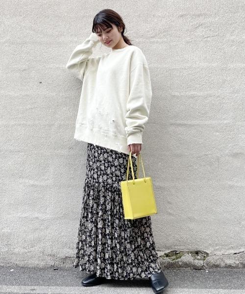 [Kastane] 花柄ティアードスカート