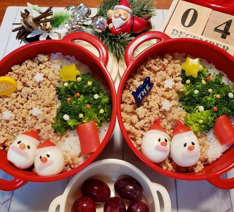 クリスマスは子供が食べやすいそぼろ弁当に!