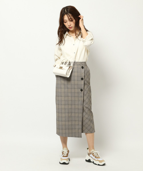 BARNYARDSTORM / チェックボンディングスカート