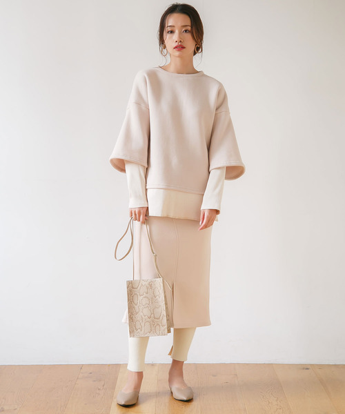 [rectangle] 裏起毛スウェットスカート
