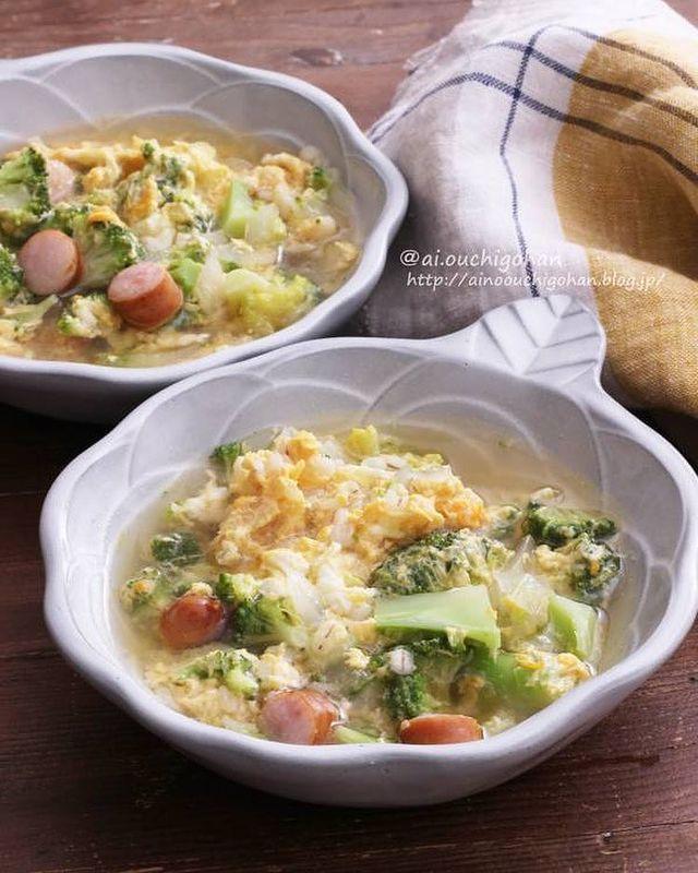 ふんわり卵のおかずスープ