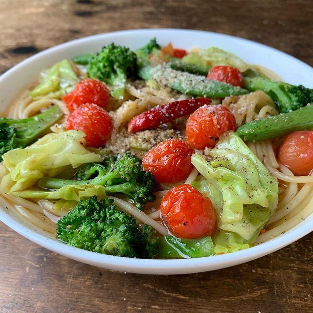 野菜たっぷりスープスパゲッティ