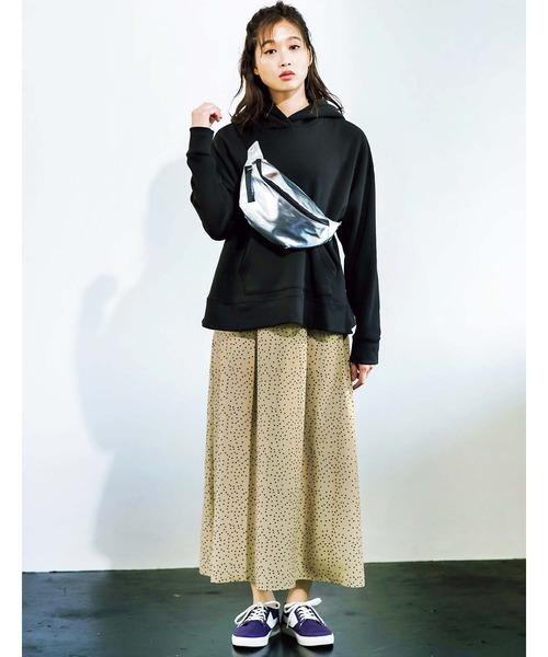 [GeeRA] ソフトマーメイドプリントスカート