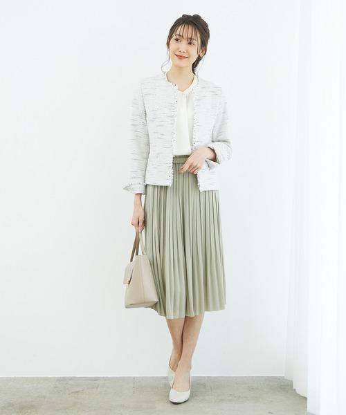 [ROPE' PICNIC] ミディ丈プリーツスカート