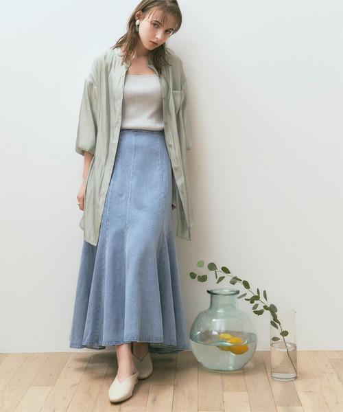 [titivate] デニムソフトマーメードスカート