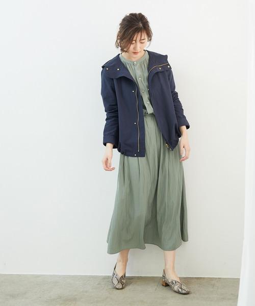 [ROPE' PICNIC] 【撥水加工&花粉ガード】グログランマウンテンパーカー