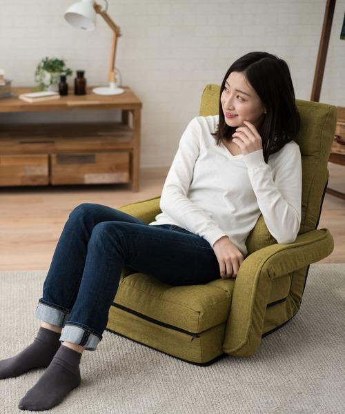 [EMOOR] 肘付きオットマン座椅子 Mollet(モレット)