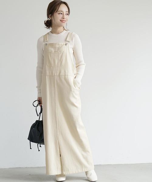 チノサロペットスカート
