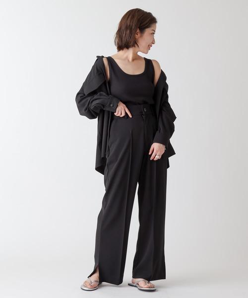[COLONY 2139] カットジョーゼットオーバーサイズ/ビッグシャツ