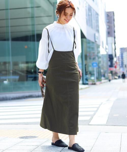 [Fashion Letter] コットンツィルサロペットワンピース 20SS
