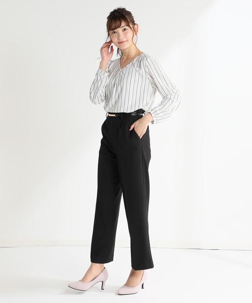 [Honeys] ベルト付ストレートパンツ