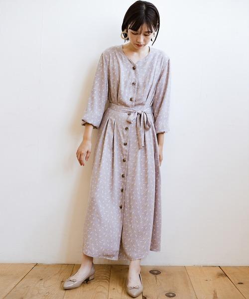 [haco!] パッと着て華やかさグッとアップ!羽織としても使える便利な柄ワンピース