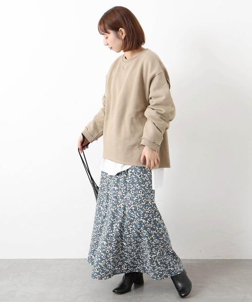 [JOURNAL STANDARD] ミドルフラワープリントスカート◆