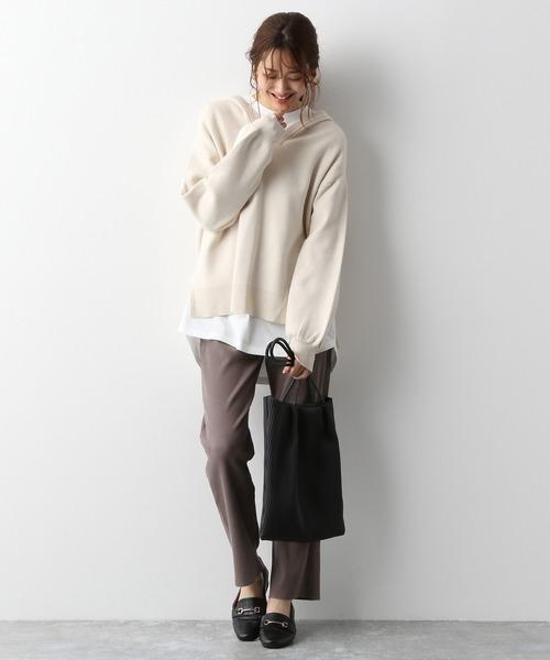 [GLOBAL WORK] セルフ裾カットリブパンツ/893281 14