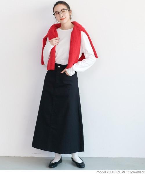[coca] バックレースアップスカート