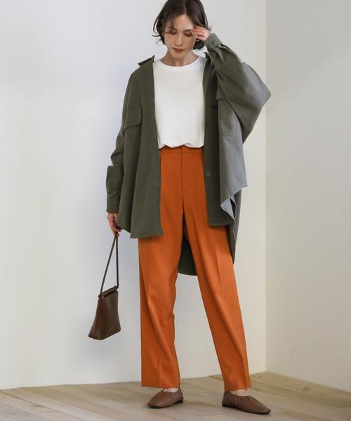 [select MOCA] 2020 A/W ダブルポケットオーバーシャツ/ビックシルエットコットン100%ルーズシャツ