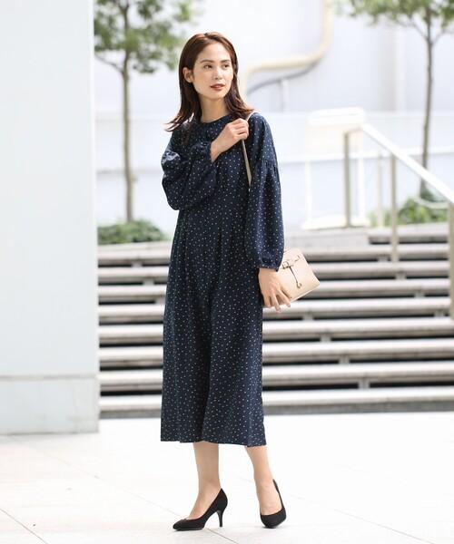 [THE SHOP TK] 羽織りにしても可愛いドットシャツワンピース/ONSTYLE