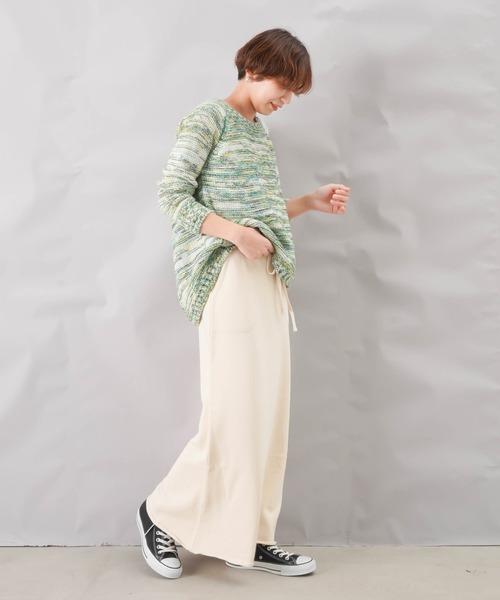 [LUCA/LADY LUCK LUCA] Munich ミューニック スウェットマキシスカート