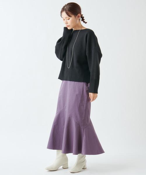 [Omekashi] タフタマーメイドスカート