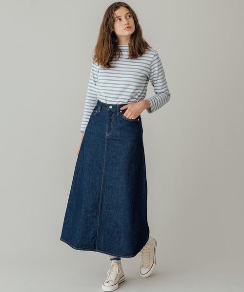 [Bshop] 【orSlow】デニムロングスカート ONE WASH WOMEN