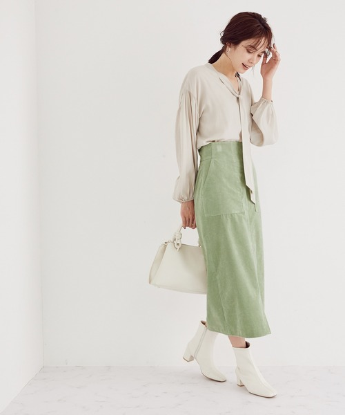 コーディロイストレッチタイトスカート