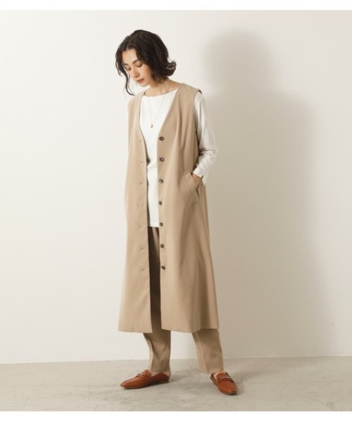 [crie conforto] ロングジレジャンパースカート