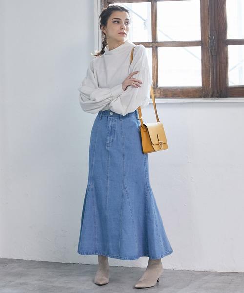 [ViS] 【Daily use】デニムマーメイドスカート〈WEB限定〉